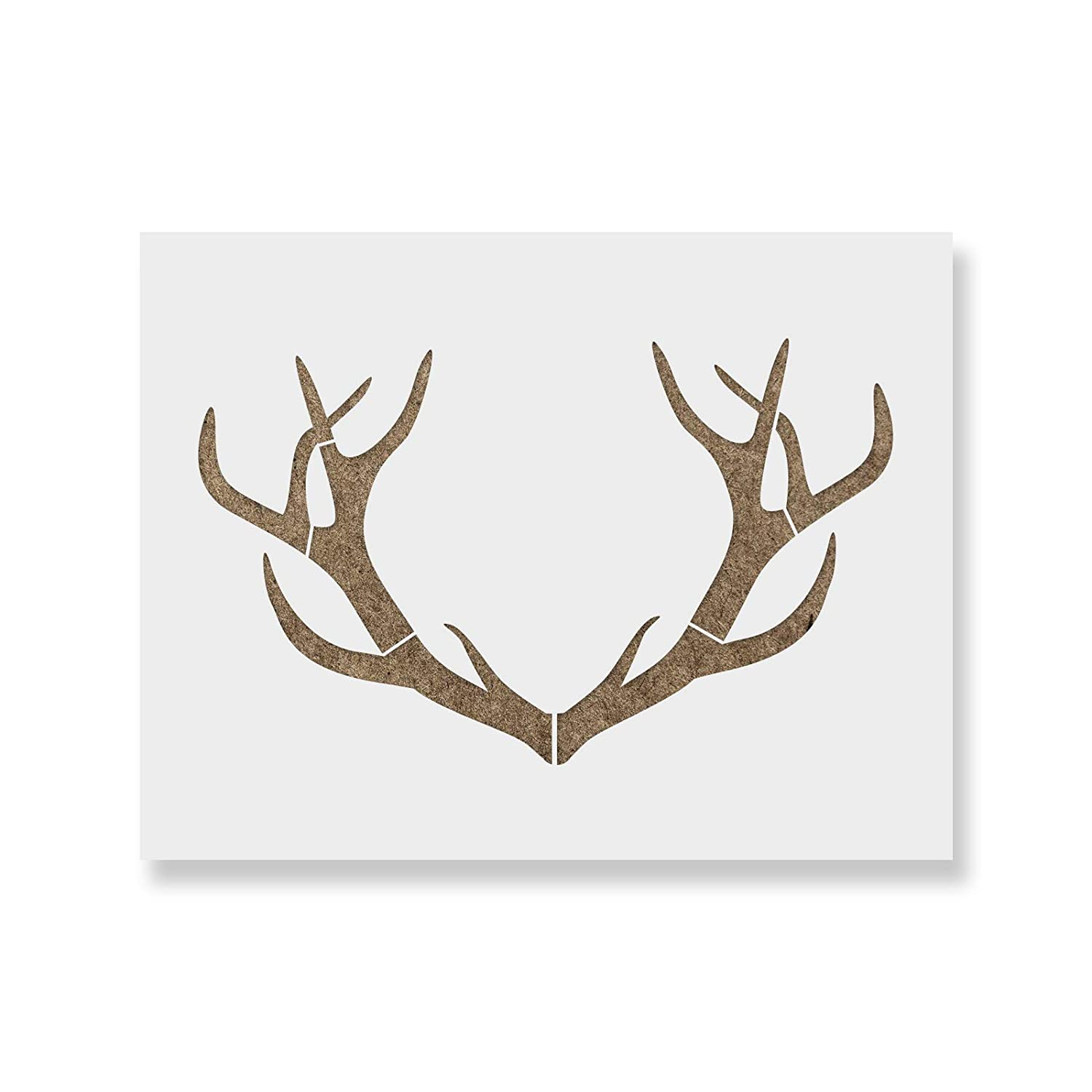 graphic about Deer Antler Printable Template called Deer Antlers Stencil Template - Reusable Stencil of Deer Antlers with Many Measurements Offered