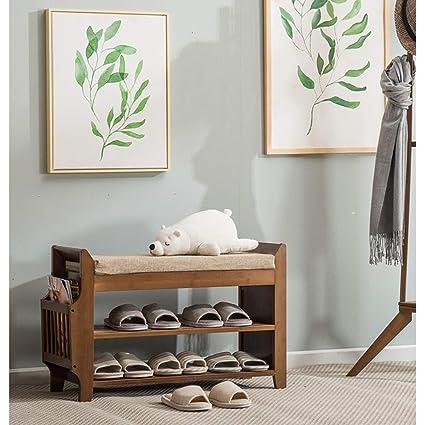 Strange Amazon Com Dww Natural Bamboo Shoe Rack Storage Bench Camellatalisay Diy Chair Ideas Camellatalisaycom