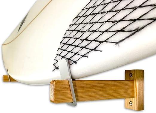 Natural Estante de exhibici/ón de Madera, StoreYourBoard Soporte de Pared de Tabla de Surf de Madera Desnuda