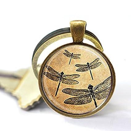 Llavero de libélula con diseño de libélulas, llavero con ...