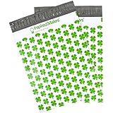 Poly Mailers 10x13 - Lucky Irish Shamrocks Print - Premium Unpadded Shipping Envelopes - Pack of 100