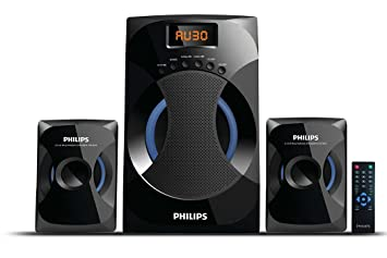 speakers in amazon. philips mms-4545b 2.1 channel speakers system (black) in amazon