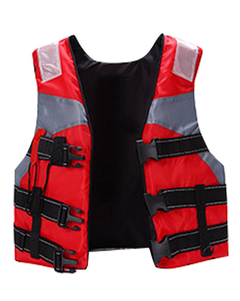 nachvornライフジャケット水泳Floatation Vest for子と大人用 17.7 inch Wide*18.5 inch Long for Children レッド B072HQGMYZ