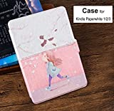 Dgtek Ultra Slim Shell Case Kindle Paperwhite Case 1/2/3 6 inch PU Leather Cover with Auto Sleep& Wake Up Casual Style Cat Girl
