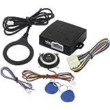 Keenso - Alarma universal para coche, botón de arranque del motor, entrada sin llave