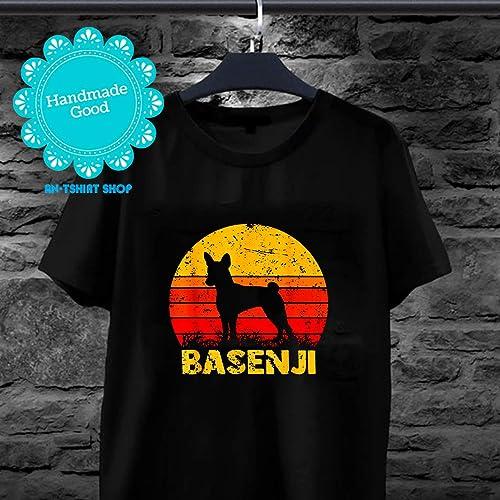 14206c8bda4c Amazon.com: Vintage Retro Basenji T-Shirt Dog Lover Owner Pet Puppy Gift  for men and women: Handmade
