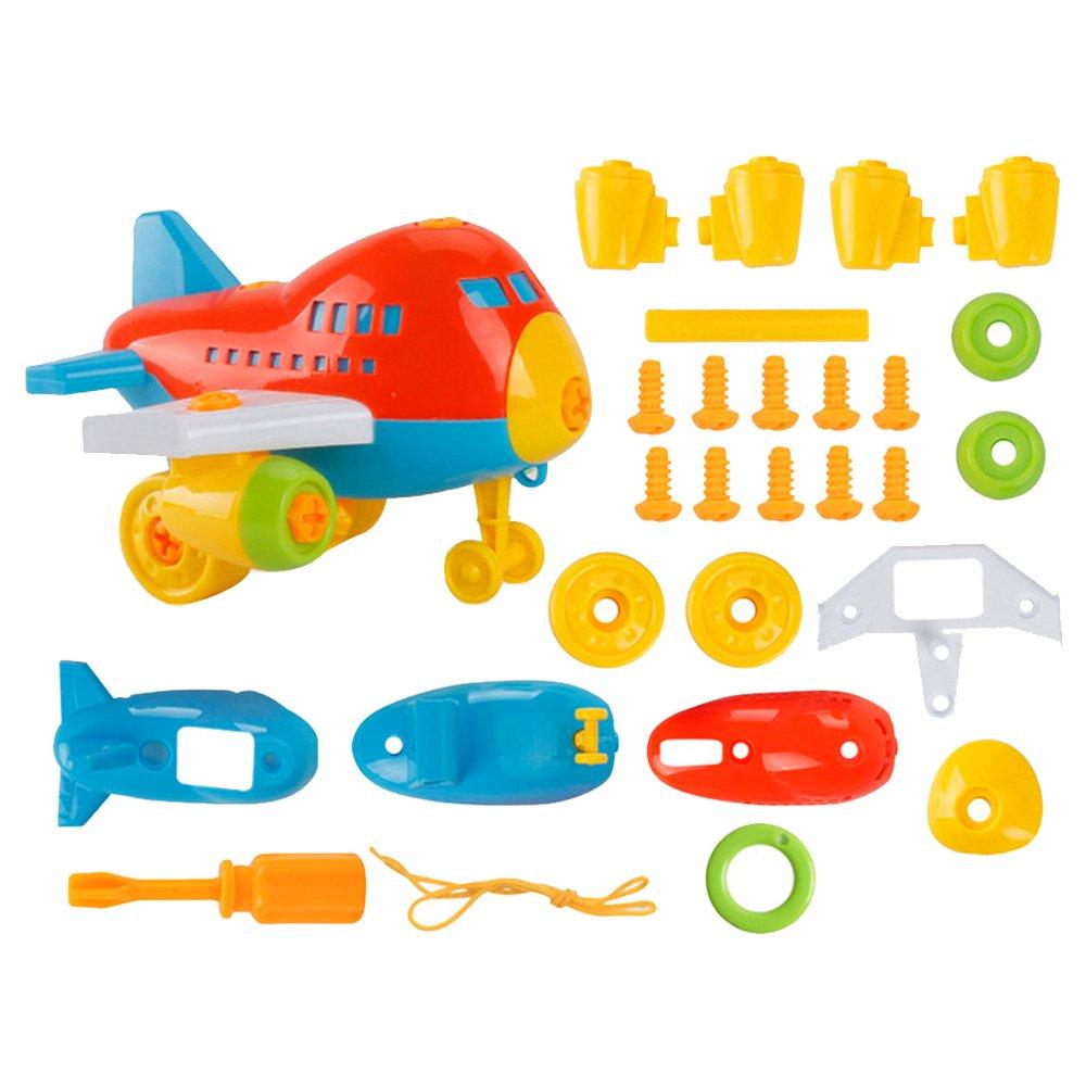 Newin Star Démontage de Dessins animés Assemblée Puzzle éducatif Blocs de Construction Jouets Enfants DIY 1pc (Avion) Couleur au Hasard