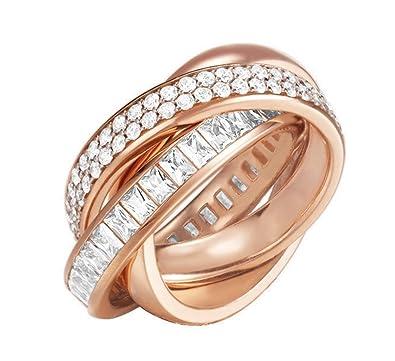 Esprit Women 3 piece Ring set base metal rose gold ESRG02258C, ring size:53
