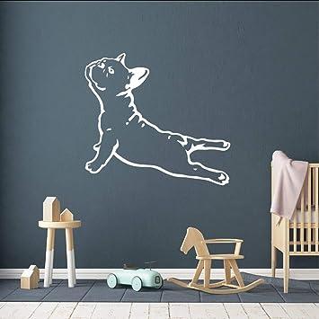Lglays Bulldog Francés Perro De La Yoga Etiqueta De La Pared ...