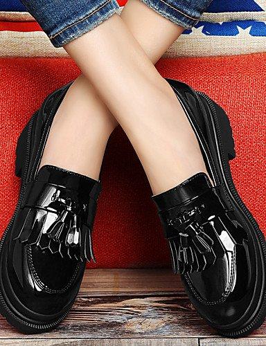 Creepers Robusto Uk5 Negro Red Zapatos Mujer Cuero Zq Black Patentado Gyht Y Casual Uk6 C Eu38 Eu39 Oficina us7 5 De Rojo Cn38 Trabajo Tacón Tacones us8 Cn39 5 Vestido x0qZXpZ