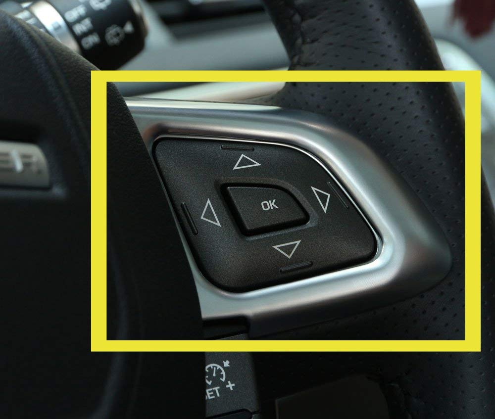 Carbon fiber ABS Car Steering Wheel Control Frame Trim 2Pcs For RR Evoque 2012-2017 Car Accessories