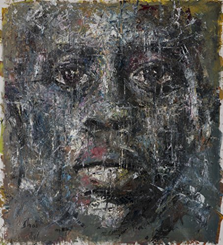 Shai Yossef Special Extra extra-large print on canvas by the artist, wall art decor,decorative,Art Collectibles,african american man portrait 95/85cm (37.4