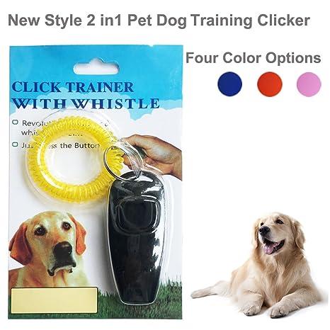 IREENUO Silbato de adiestramiento 2 en 1 para perros y cachorros con llavero, correa de