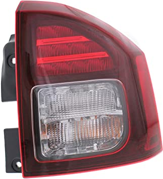 Evan-Fischer Tail Light Assembly Compatible with 2014-2017 Jeep Compass Passenger Side