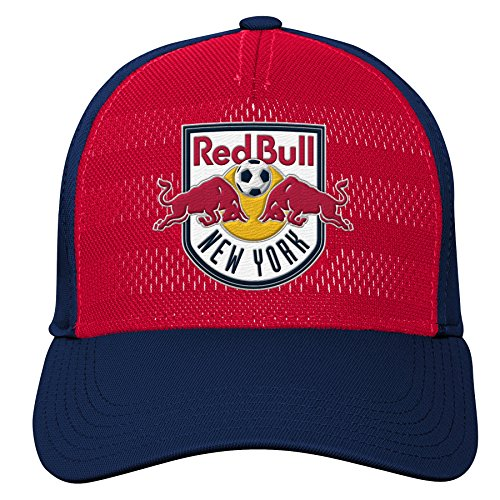 MLS New York Red Bulls Youth Boys Authentic Structured Flex, 1 Size, New Navy