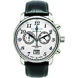Zeppelin - 7686-1 - Montre Homme - Quartz - Analogique - Chronomètre - Bracelet cuir noir
