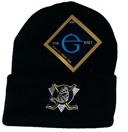 7c7630e9ecb Image Unavailable. Image not available for. Color  Anaheim Mighty Ducks  Vintage Knit NHL Beanie Skull Cap Hat