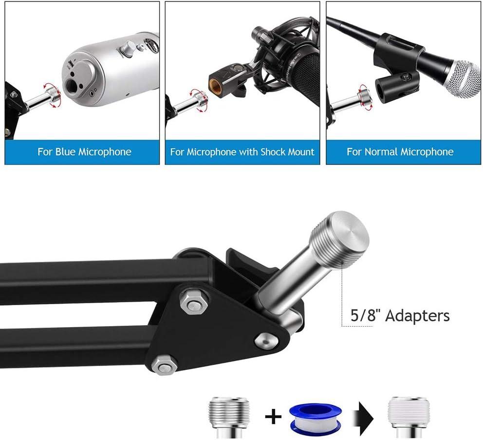 Soporte universal plegable para micr/ófono con brazo de tijera para estudio y difusi/ón