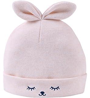 Feoya Bonnet de Naissance Chapeau Bébé Fille Garçon Nouveau Né en Coton  Motif Lapin pour 0 450549f285b