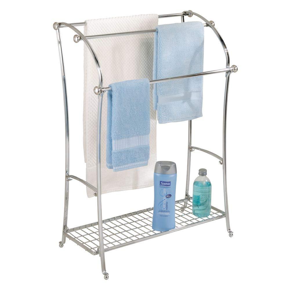 Amazon.com: InterDesign York Lyra Free-Standing Floor Towel Holder ...