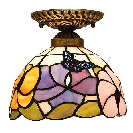 FABAKIRA Iluminación de techo Tiffany Estilo Lámpara Focos de techo de la Sala de Estar de la Barra