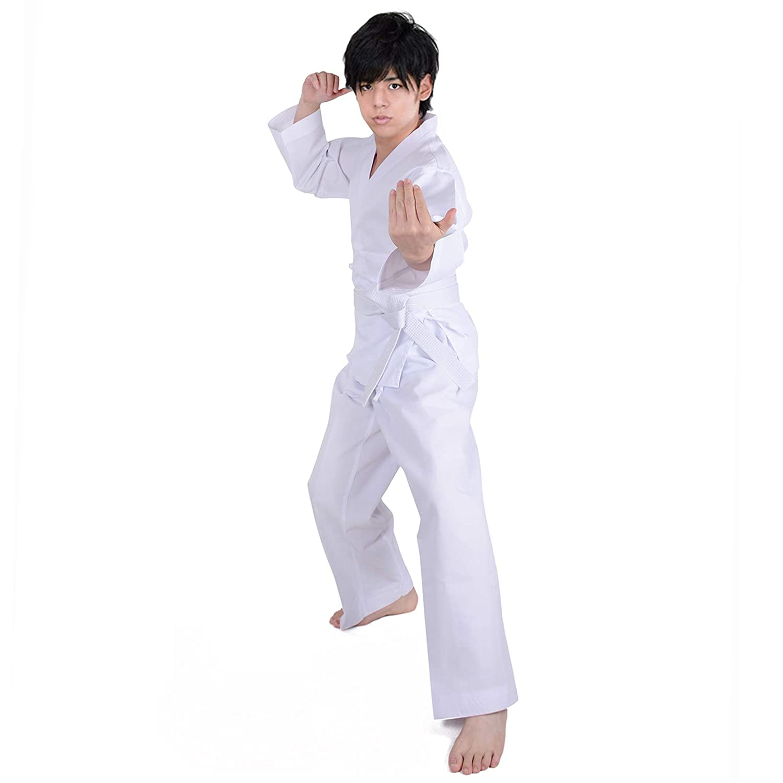 HongH Adult Lightweight Taekwondo Student Uniform Karate Suit Kungfu Sports Martial Arts Costume Free Belt