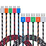 galaxy note edge tablet - Android Charger Cable, NonoUV 5-Pack 6FT Nylon Braided Long Data Sync Cord Micro USB Charging Cables for Samsung Galaxy S6, S7 edge, S6 edge plus, Note 5, 4,HTC,LG,Tablet, Nexus, more Phone