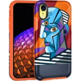 MAXCURY Phone Case for iPhone XR, Stylish Full Body Protection Hard Shell with Soft Rubber Bumper with Art Pattern Picasso Se