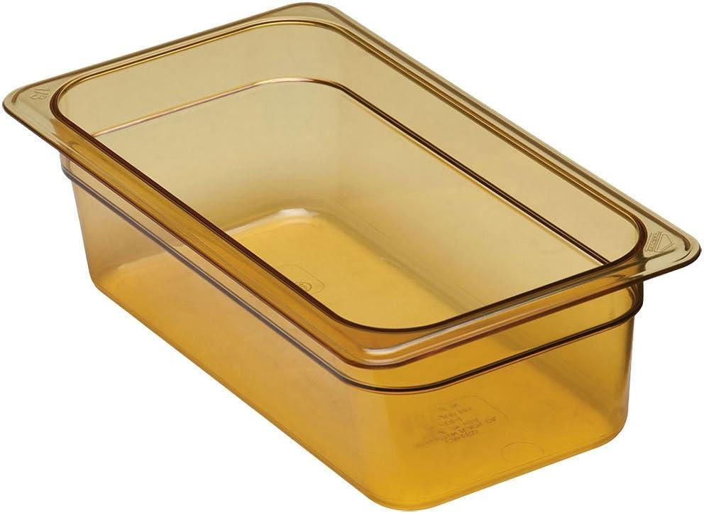 Cambro 34HP150 H-Pan 1/3 Size Amber High Heat Food Pan - 4