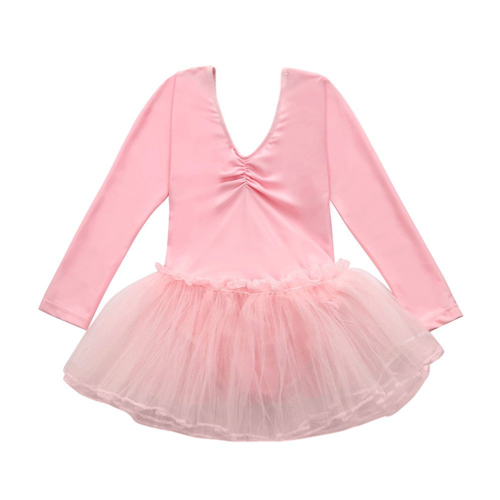 Toddler Girls Kid Gymnastics Ballet Dress Leotard Tutu Skirt Dance wear Costume