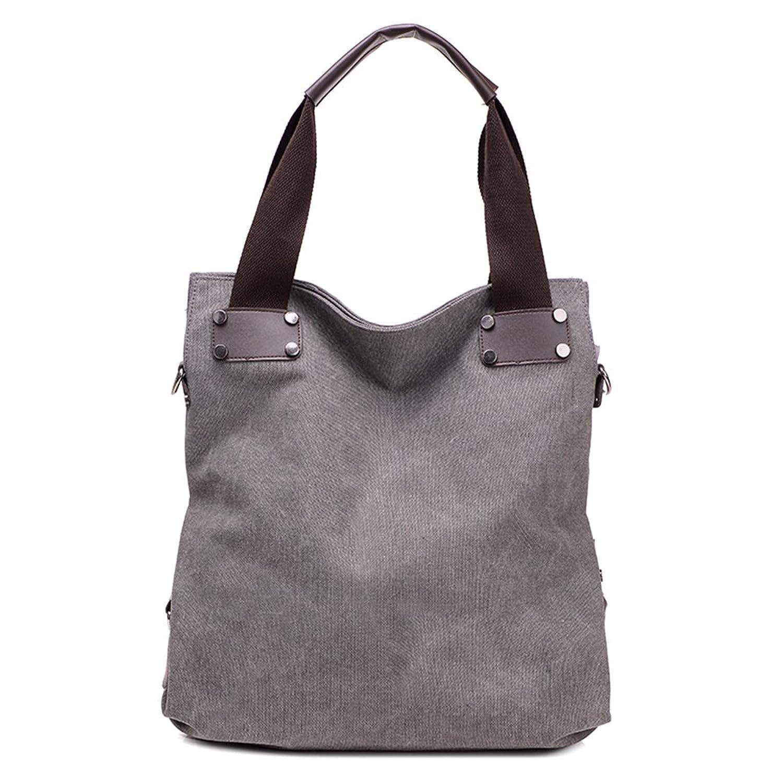 MOMO Retro Vintage Literary Women's Casual Canvas Hobo Everyday Handbag Bucket Shoulder Bag Big