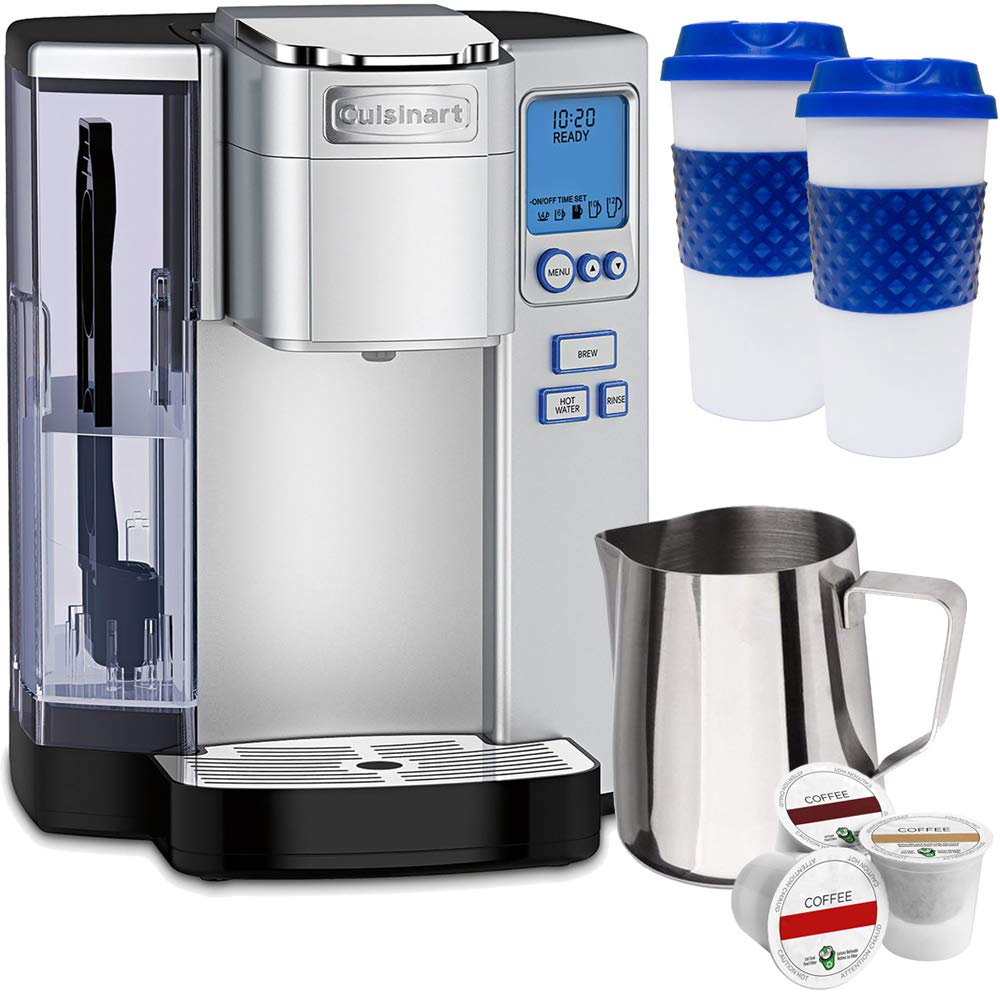 Cuisinart SS-10 Premium Single Serve Coffeemaker w/Milk Frothing Pitcher, Warranty Bundle