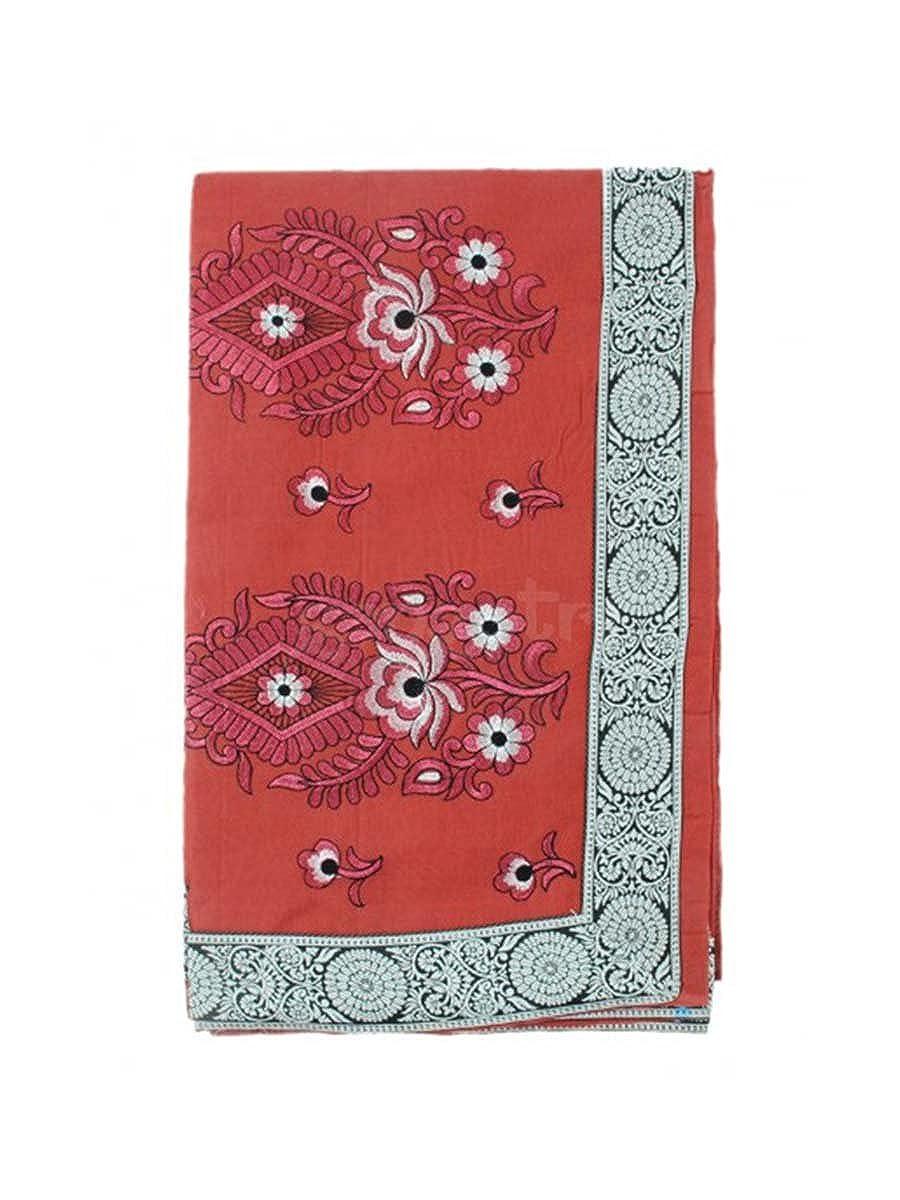 Saree Cotton Embroidery WSCEGGG6-Beige