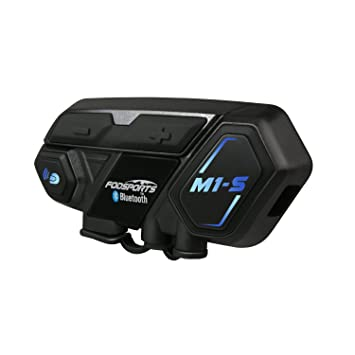 Intercomunicador de Motocicleta de Bluetooth 4.1 Casco Comunicador Auricular Impermeable Inalambrico Intercom Interfono con 2000M,