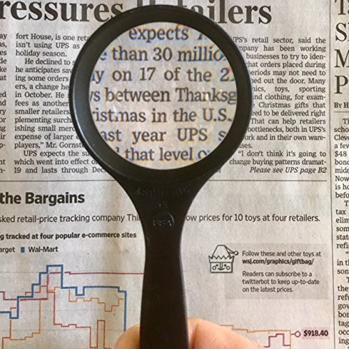 Professional Quality 5x Aspheric Lens Magnifier with Case MADE IN USA By Electro-Optix