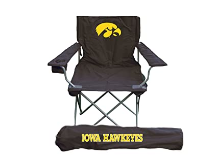 Excellent Amazon Com Rivalry Ncaa Iowa Hawkeyes Folding Chair With Beatyapartments Chair Design Images Beatyapartmentscom