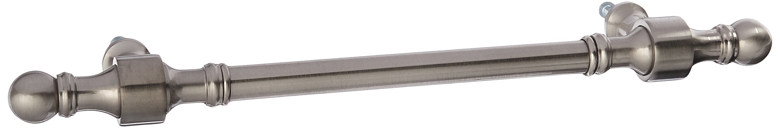 Allied Brass RW-3/8-SN Retro Wave Collection Smooth Refrigerator Pull, 8'', Satin Nickel