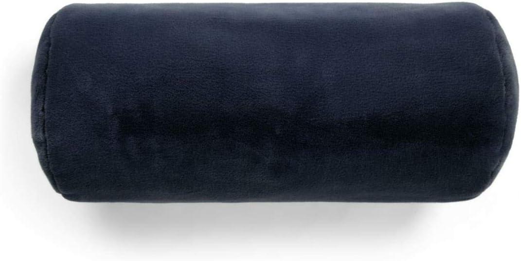Essenza Furry Traversin Bleu uni 22 x 50 cm