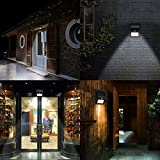 Solar Light, AGPtek LED Outdoor Solar Powerd Light Lamp, Wireless Waterproof Security Motion Sensor Light for Patio, Deck, Yard, Garden,Driveway,Outside Wall with 2 Modes Motion Activated Auto On/Off(4 Pack)