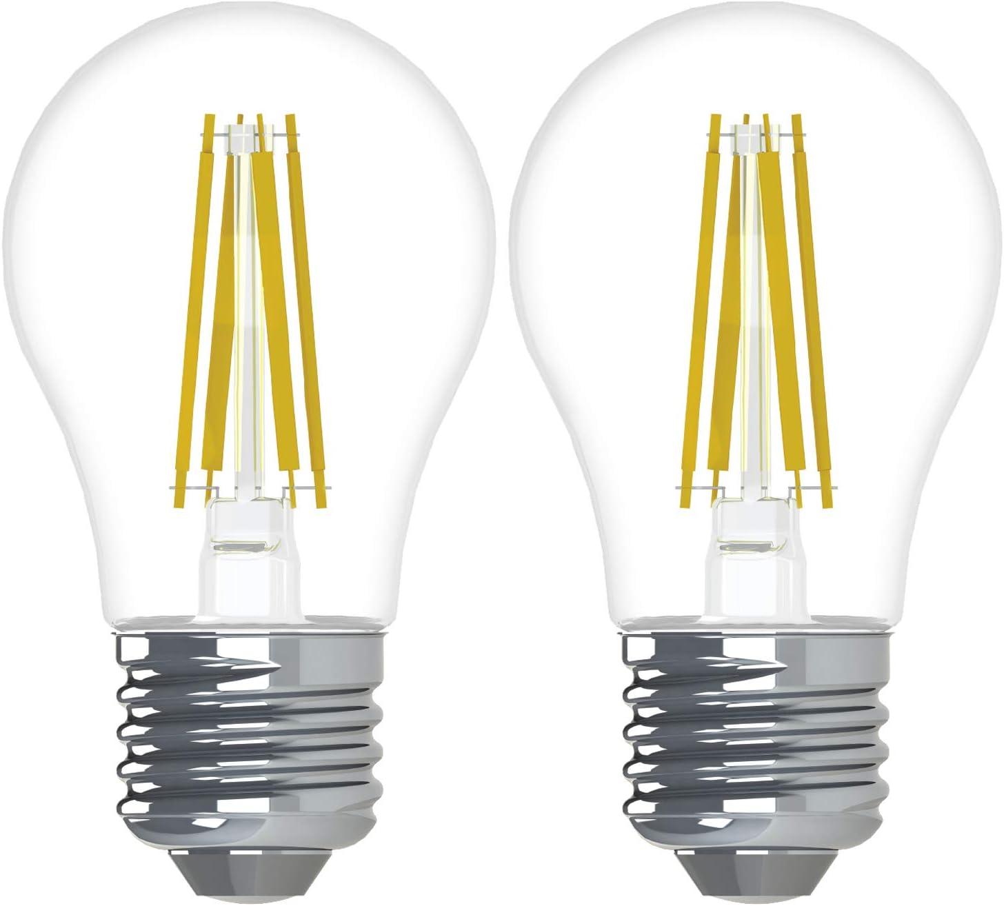 General Electric Bulb Clear Shape HD Refresh LED Light Medium Base 60 Watt, Soft-White 4 Bulbs