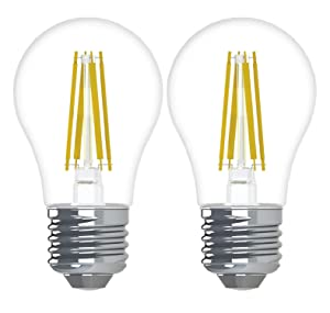 GE Lighting 45672 Relax HD LED (40-Watt Replacement), 300-Lumen A15 Bulb, Medium Base, Soft White Clear, 2-Pack, Title 20 Compliant