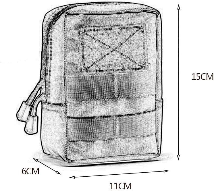 Unisexe Molle Tactique Pouches Utility Compact EDC Sac De Taille Pack Petit Engrenage Gadget Organisateur pour Sac /à Dos