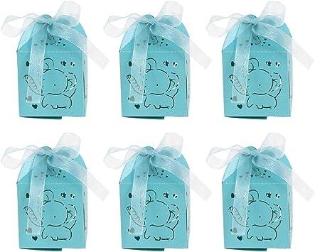 NUOBESTY 50 Piezas Caja de Dulces Elegante Caja de Azúcar Caja de Almacenamiento de Dulces Dulces para Fiesta Boda Hogar: Amazon.es: Juguetes y juegos