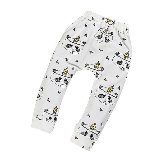 CHENGYANG 1 Pieza Animal Print Diseños Pantalones de algodón para bebé niños Panda 80