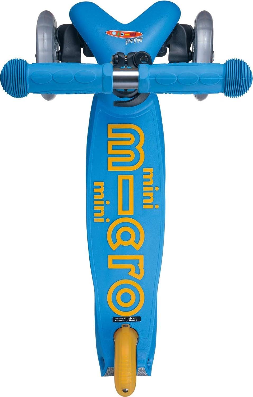 Micro® Mini Deluxe, Original Design, Patinete 3 Ruedas, 2-5 Años, Peso 1,95kg, Carga Máx: 50kg, Altura 48-68cm, Ruedas PU 120/80mm, Rodamientos ABEC 9, Plataforma Antideslizante (Océano)