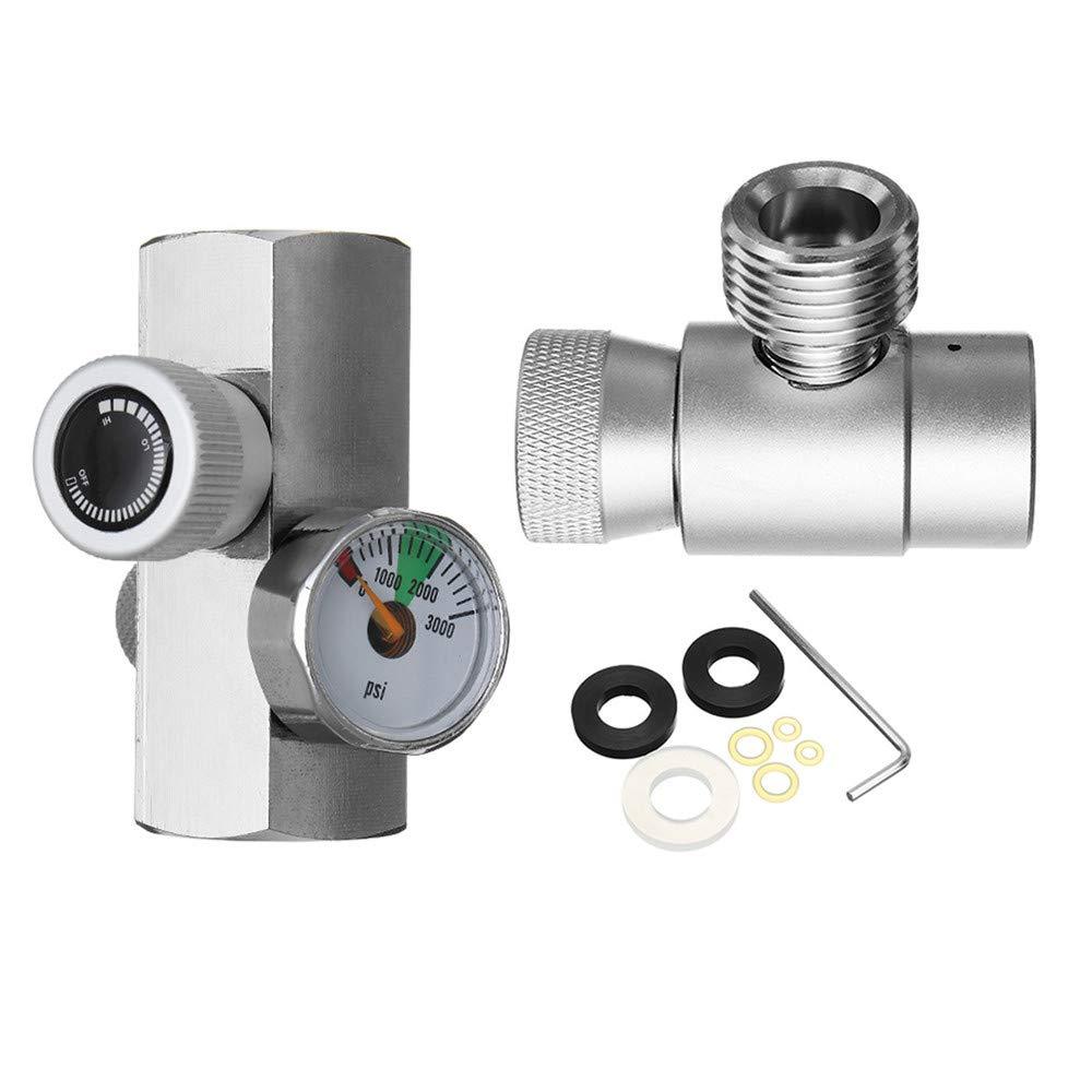 ZHENWOFC 金属SodaStream用CO2タンクシリンダー詰め替え充填アダプターコネクタ自作キット New B07RV5MYC7