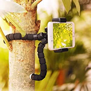 Cell Phone Tripod, Portable and Flexible Adjustable Camera Stand Holder with Wireless Remote and Universal Clip Compatible with iPhone Android Samsung, Great for TIK tok, Streaming, Back to School.
