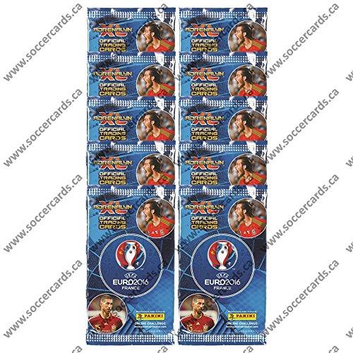 EURO 2016 PANINI ADRENALYN SOCCER CARDS 10 PACKS (9 CARDS PER PACK) 90 CARDS TOTAL LOOK FOR RONALDO, LEWANDOWSKI, IBRAHIMOVIC, POGBA & MORE!