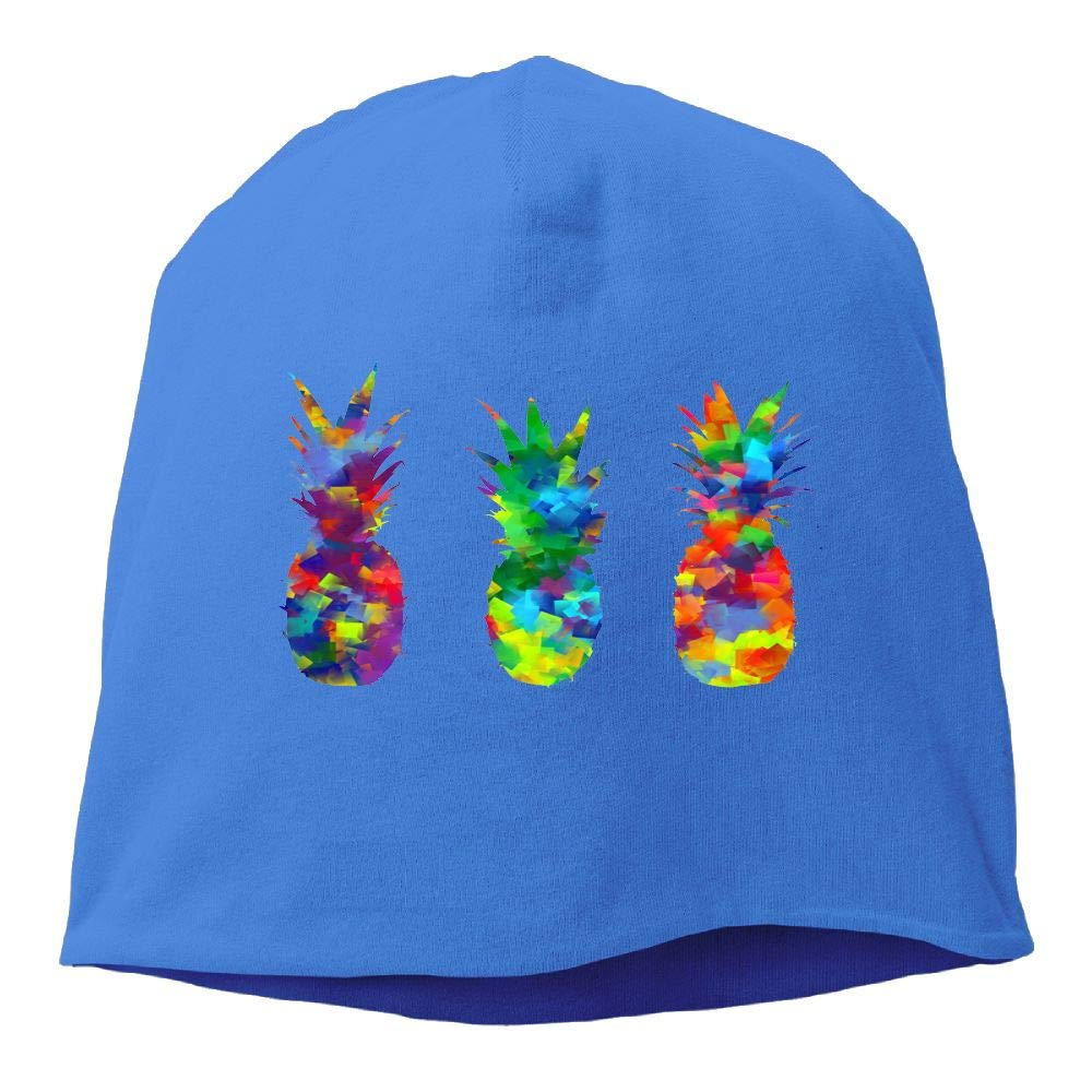 Janeither Headscarf Pineapples Watercolor Painting Pineapple Hip-Hop Knitted Hat for Mens Womens Fashion Beanie Cap