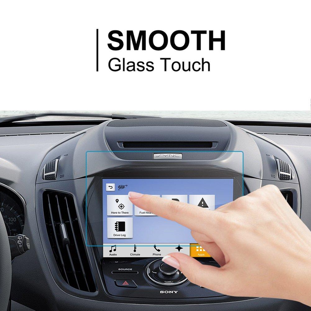 9H Cristal Vidrio Templado GPS Navi pel/ícula protegida Glass LFOTPP Kuga 8 Pulgadas Navegaci/ón Protector de Pantalla